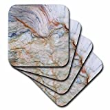 3dRose Florene Granite And Marble Abstracts - Image of Copper And Blue Granite - set of 4 Coasters - Soft (cst_252664_1)