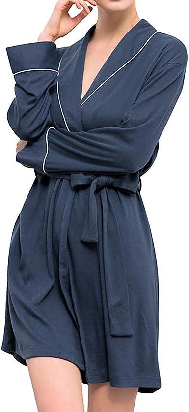 Rcool Camisones Batas Y Kimonos Camisones Mujer Camisones Verano Camisones Tallas Grandes Mujer Pijamas De Punto De Bano De Algodon De Manga Larga Para Mujer Amazon Es Ropa Y Accesorios