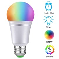 AUSEIN Bombilla LED Inteligente, WiFi Bombillas Inteligentes 6000K 7W Dimmable Smartphone de Color Controlado Luz Blanca, No Se Requiere Hub, Funciona con Amazon Echo Alexa Google Home E26 A19