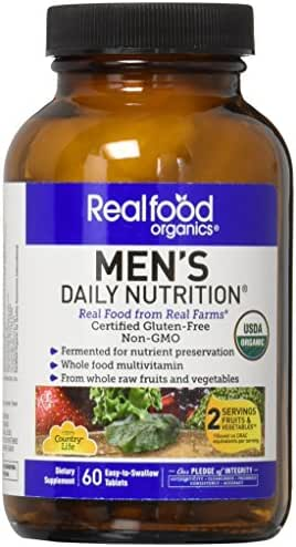Country Life Men's Daily Nutrition - 60 Easy to Swallow Tablets - May Help Support Daily Nutritional Needs - Contains Whole Raw Fruits & Vegetables - Non GMO - Gluten-Free