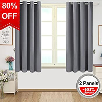 Blackout Curtains Thermal Insulated Grommet Draperies Room Darkening Panels For Living Bedroom Nursery