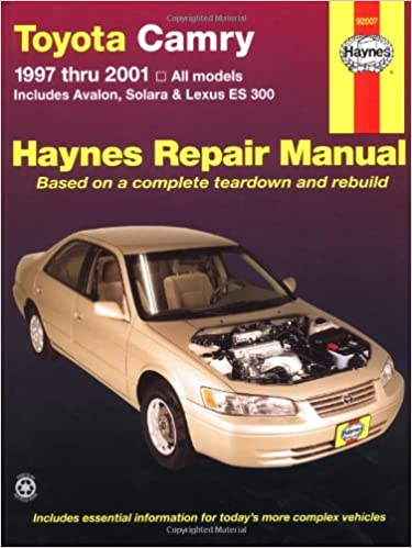 Toyota camry 1997 thru 2001 all models includes avalon solara toyota camry 1997 thru 2001 all models includes avalon solara lexus es 300 haynes automotive repair manuals robert maddox jay storer fandeluxe Choice Image