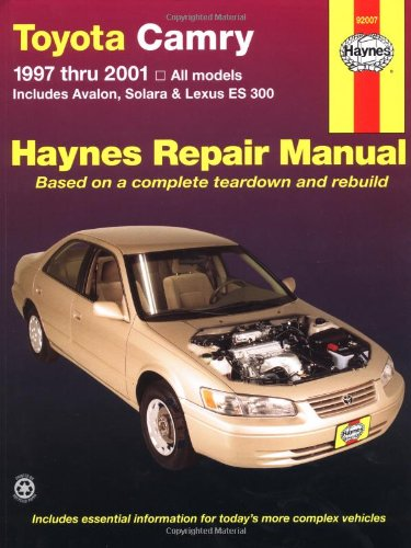 - Toyota Camry 1997 thru 2001: All Models - Includes Avalon,  Solara & Lexus ES 300 (Haynes Automotive Repair Manuals)