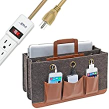 Great Useful Stuff Portable Tech Station with 6-Outlet Power Strip: Rustic Modern Collection, Charge and Carry All Your Mobile Devices From Room to Room