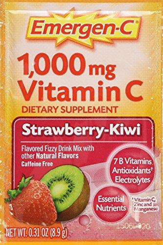 Emergen-C, Strawberry-Kiwi, 0.31 OZ packets/net wt. 9.3oz ,