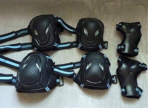 Oliasports%C2%AE Protective Pads Black Adjustable Skateboard