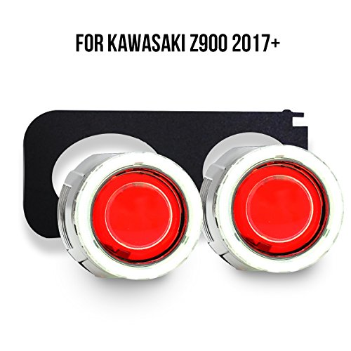 KT Tailor-Made HID Projector Kit HP51 for Kawasaki Z900 2017+ Red Demon Eye