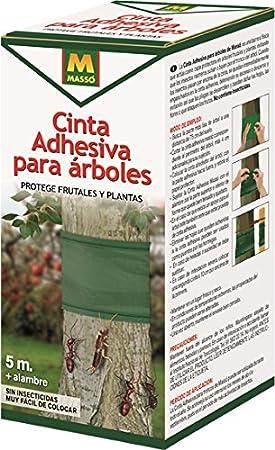 MASSO 231401 Cinta Adhesiva Anti Insectos para árboles, Verde