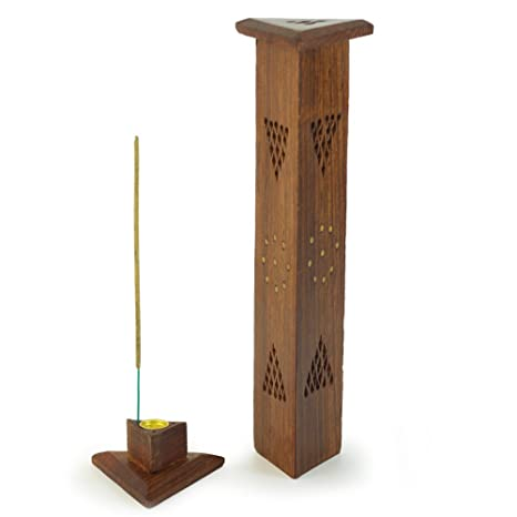 bdfff5f76e2 Quemador de incienso - de madera triángulo Torre: Amazon.es: Hogar