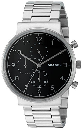 Skagen-Mens-SKW6360-Ancher-Silver-Link-Chronograph-Watch