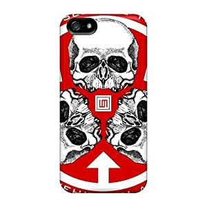 Bumper Hard Phone Covers For Iphone 5/5s (BAt6333bBWt) Support Personal Customs Vivid 30 Seconds To Mars Band 3STM Skin