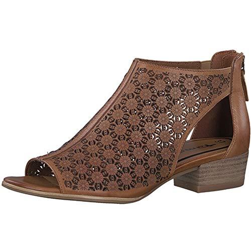 87d94733 Tamaris Women's Nao 28140 Oxford Flat, Cognac, 38 Medium EU (7.5-8