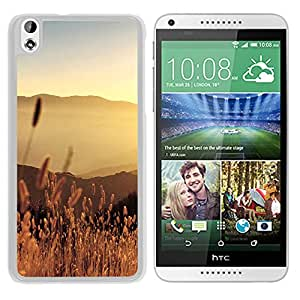New Beautiful Custom Designed Cover Case For HTC Desire 816 With Late Summer Field (2) Phone Case
