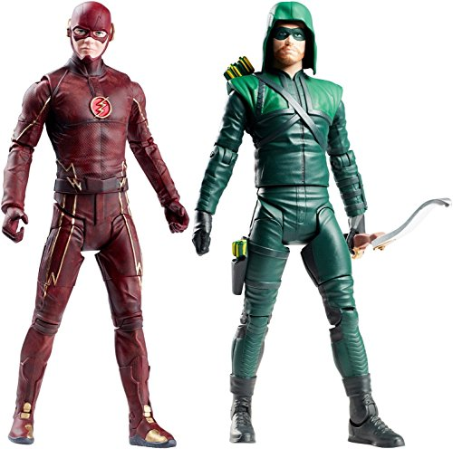 "Super Hero The Flash vs Multiverse Green Arrow 6"" Hero Series Action Figures Toys, 2 Pack"