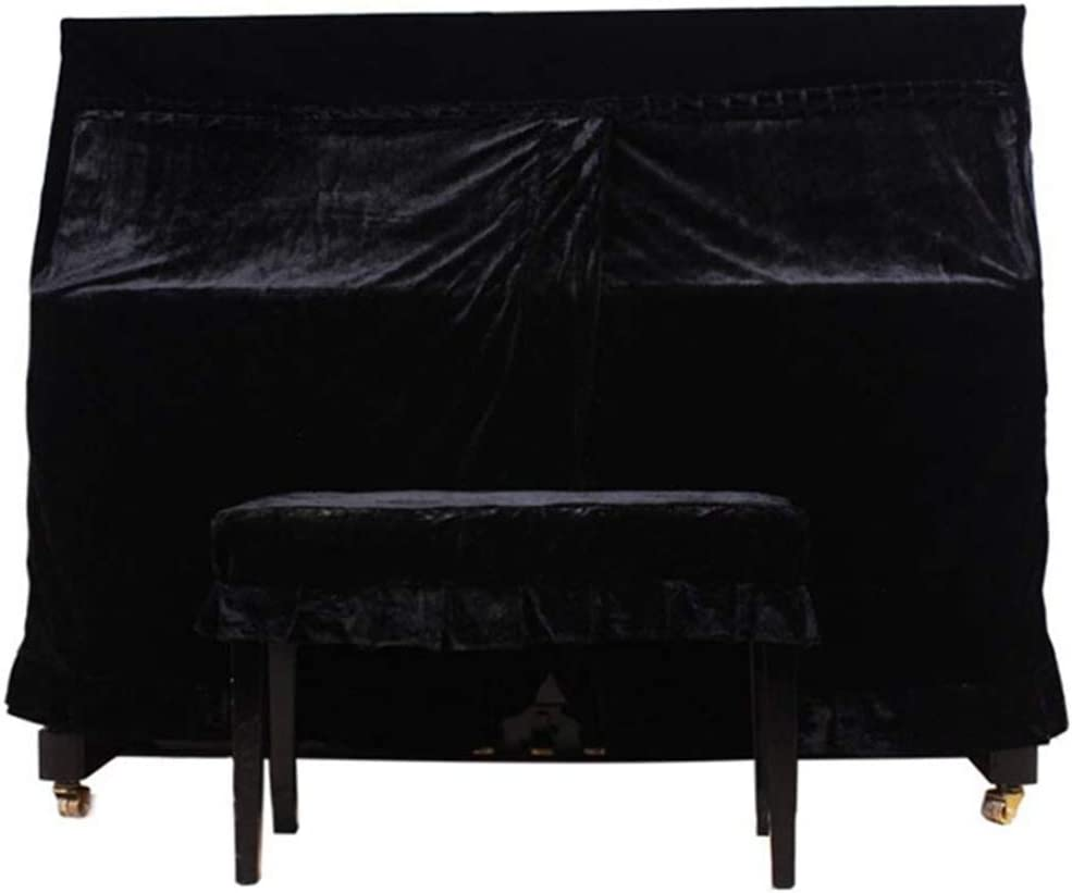 FYZS Full Piano Cover Cloth Art,Upright Full Piano Dust Cover,for Universal Vertical 118-131 Piano Fit 125-131 Piano Type Black
