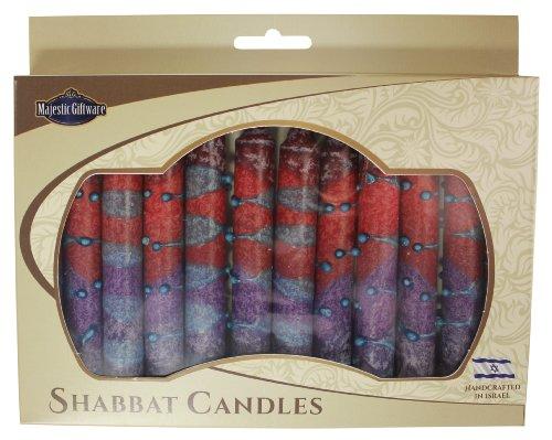 Majestic Giftware SC-SHSR-P Safed Shabbat Candle, 5-Inch, Sunrise Purple, 12-Pack (Shabbat Candles Safed 12)