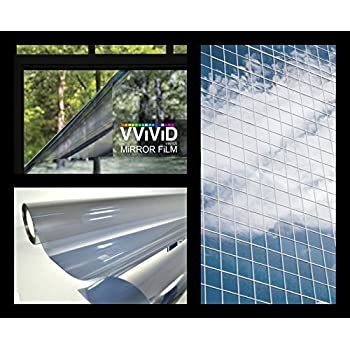 one way silver mirror finish static cling vinyl window wrap film roll various sizes gila reviews does work at night mirrored bq