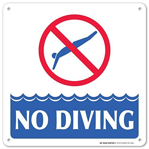Swimming Pool Safety Rules No Diving Laminated Sign -12
