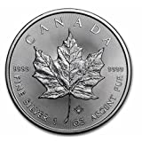2017 1 oz Silver Maple Leaf - $5 Face Value