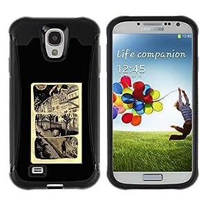 Suave TPU GEL Carcasa Funda Silicona Blando Estuche Caso de protección (para) Samsung Galaxy S4 IV I9500 / CECELL Phone case / / Cartoon Page Poster Black /