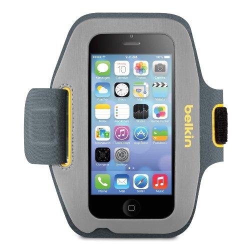 Belkin Sport-Fit Armband for iPhone 5 / 5S / 5c / SE (Gravel / (Belkin Neoprene Sports Armband)