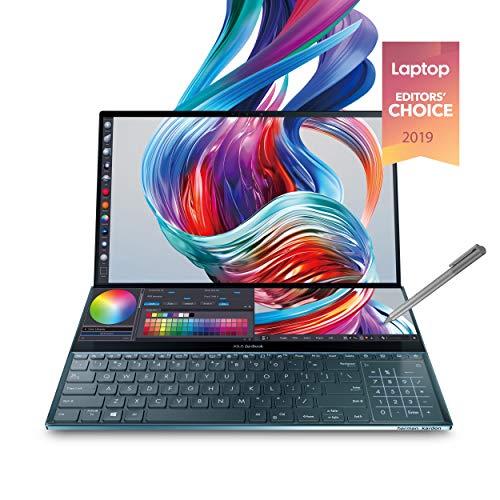 Asus-ZenBook-Pro-Duo-UX581-156-4K-UHD-NanoEdge-Bezel-Touch-Intel-Core-i9-9980HK-32GB-RAM-1TB-PCIe-SSD-GeForce-RTX-2060-Innovative-Screenpad-Plus-Windows-10-Pro-UX581GV-XB94T-Celestial-Blue