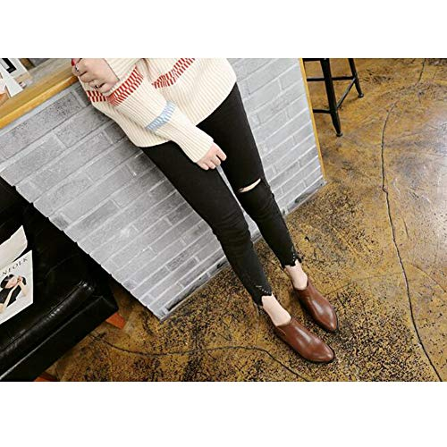 Size Singolo Spessi Sconosciuto Punta colore Ff Eu36 Piatta Spillo Brown Tacco uk4 Stivaletti Femminile cn36 A 747Uqpaw