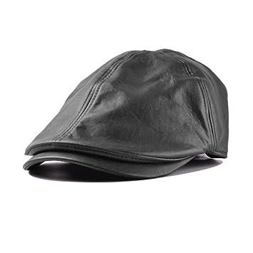 Xinantime Sombrero, PU Cuero Gorra Boina Sombreros Hombres Mujeres (Negro): Amazon.es: Deportes y aire libre