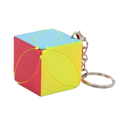 Bonarty Cubo Mágico de Velocidad Rompecabezas 3D con Llavero ...