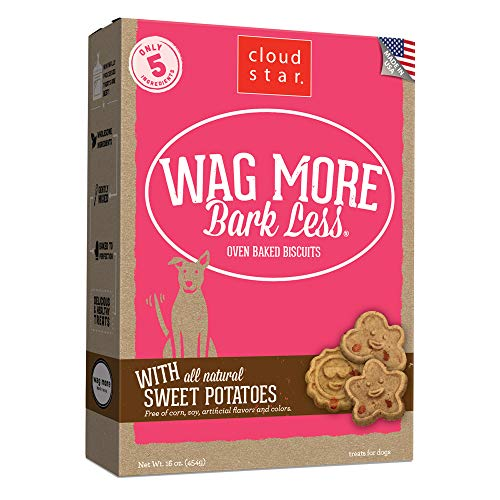 Cloud Star Wag More Bark Less Oven Baked Crunchy Dog Treats, Sweet Potatoes 16 oz