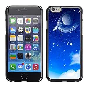 Planeta en su órbita - Metal de aluminio y de plástico duro Caja del teléfono - Negro - Apple (4.7 inches!!!) iPhone 6 / 6S