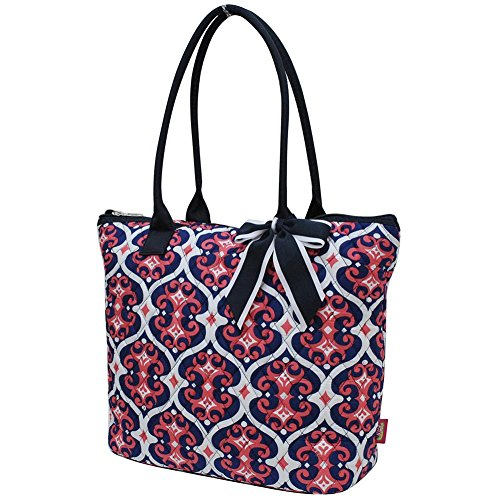 2018 Ngil Navy Cotton Medium Bag Tote Quilted Vine Collection Spring Classy qvrvwHXU