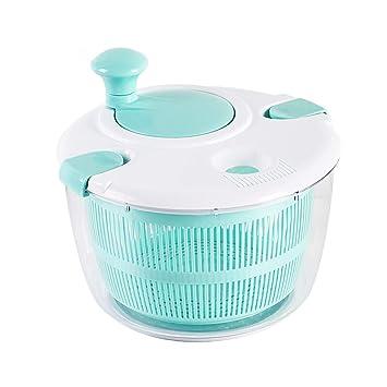 Centrifugadora para ensalada, cesta colador, secador y vende Lattuga, hierbas, verduras y frutas: Amazon.es: Hogar