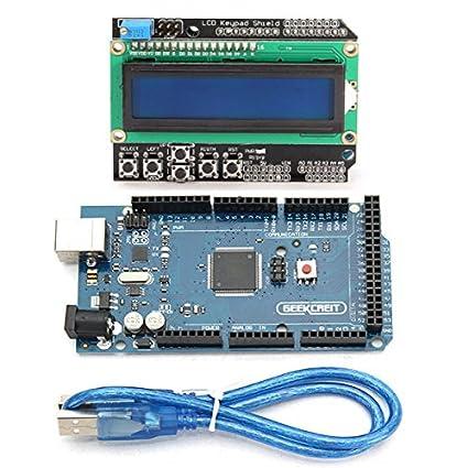 Ils - Tarjeta de Desarrollo Mega 2560 R3 MEGA2560 con Pantalla LCD 1602 Shield para Arduino