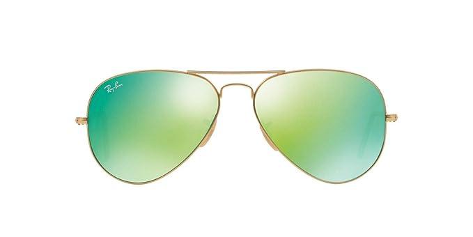 eb66d9515b Amazon.com  RayBan - RB3025 112 19 Aviator Green Flash Lenses  Clothing