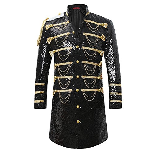Mens 2-Piece Suit Fashion Sequin Party Prom Dinner Blazer Tuxedo Jacket Trousers