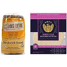 Base Culture Bread, 24 oz (18 Slices) & Siete Almond Flour Tortillas, 8 count