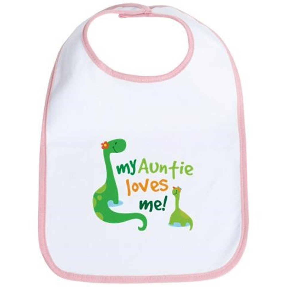 CafePress - My Auntie Loves Me Bib - Cute Cloth Baby Bib, Toddler Bib