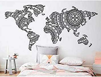 Dalxsh Mandala Mapa del Mundo Etiqueta de La Pared Dormitorio ...