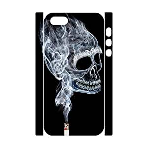 3D Bumper Plastic Customized Case Of Smoke for iPhone 5,5S