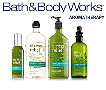 Bath Body Works Aromatherapy Gift Set Eucalyptus Spearmint Body Lotion Body Wash Foam Bath Pillow Mist Concentrated Room Spray