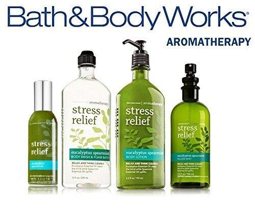 Bath & Body Works Aromatherapy Gift Set Eucalyptus Spearmint Body Lotion ~ Body Wash & Foam Bath ~ Pillow Mist & Concentrated Room Spray ()