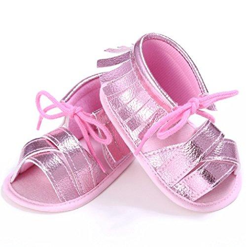 Bebé Prewalker Zapatos Auxma Niñas Sandalias de Verano Sandalias Zapatos Princesa Caminantes Prewalker Rosado