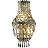 Worldwide Lighting W23086AB8 Metropolitan 3 Light Clear Crystal Wall Sconce Light, Antique Bronze