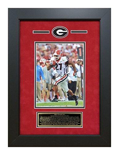 Nick Chubb Autographed/Signed Georgia Bulldogs Rose Bowl 3rd Quarter Touchdown Run Beckett COA Deluxe Framed 8x10...