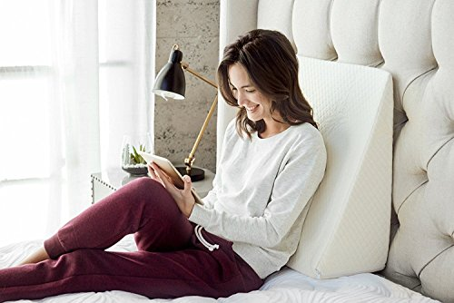 "Brentwood Home Zuma Therapeutic Wedge Pillow, Helps with Sleep & Acid Reflux, 100% Made in USA, CertiPUR-US - Washable Natural Bamboo Cover, 7"" x 24"" x 24"""