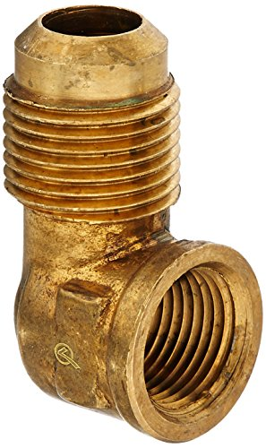 anderson metals corp 714050-0806 1/2 -Inch Flare x 3/8 -Inch Female Iron Pipe Thread, 90 Degree Elbow