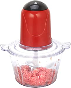 Houchu 2LAutomatic Mincer Stainless Electric Food Chopper Meat Grinder Food Processor Kitchen Tools Vegetable Chopper(red)