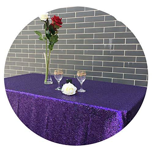 120x200cm/120x400cm Glitter Sequin Rectangular Tablecloth - Rose Gold Sequin Table -