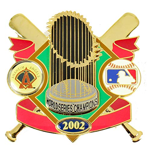 - Classic Pins Anaheim Angels 2002 World Series Champs Oversized Trophy Pin - LTD. 2,002